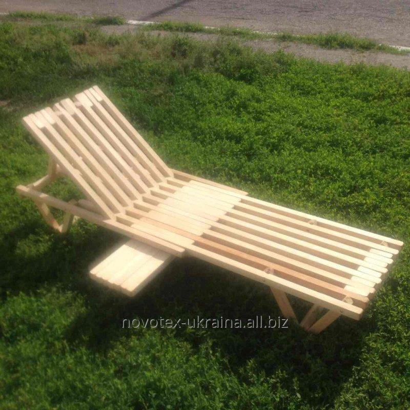 Acquistare Beach chaise longue in legno da carpino legno naturale