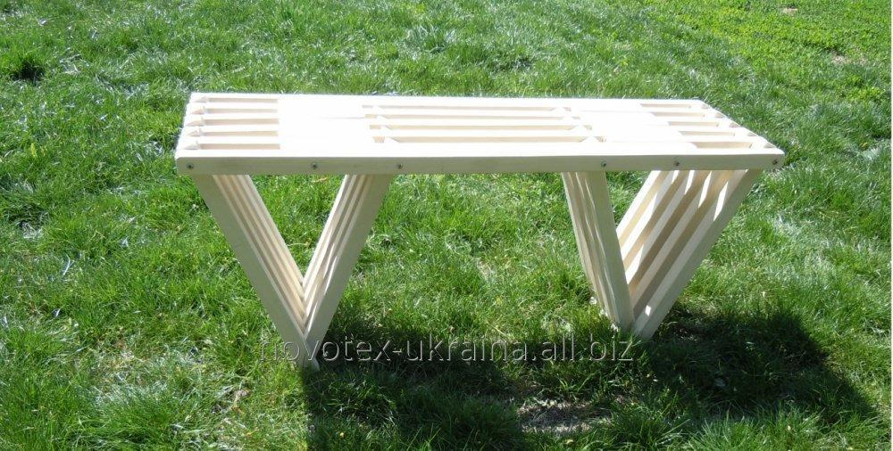 "Buy Garden benches wooden ""Chernigov"" Terraced oak furniture"