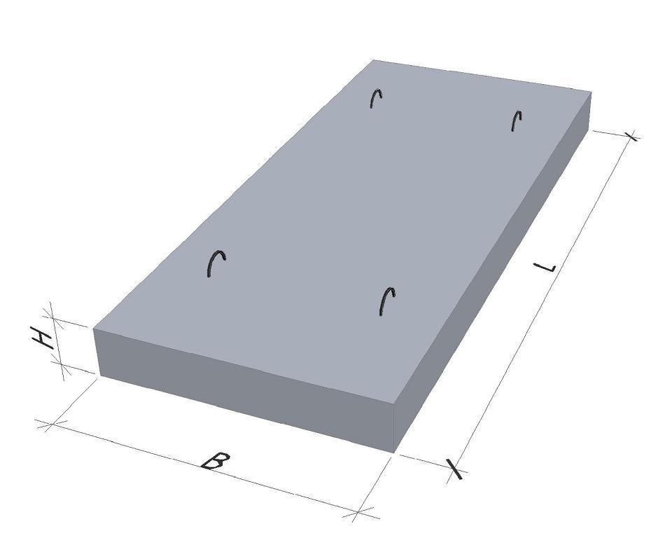 Купить ПТ-300-150-12-6/L-1500//Плита перекрытия канала/
