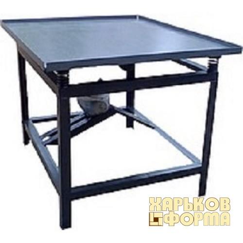 Купить Вибростол для производства тротуарной плитки толщина столешницы 10 мм, код товара: 706