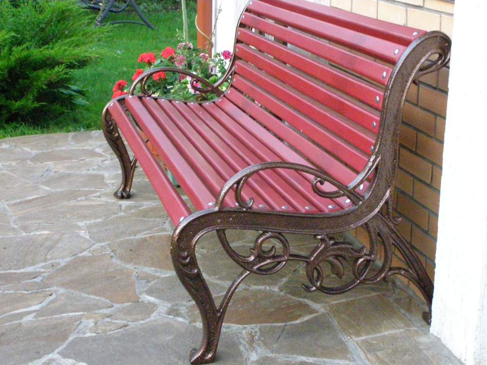 The bench is park, a bench park, sidewalls from cast iron