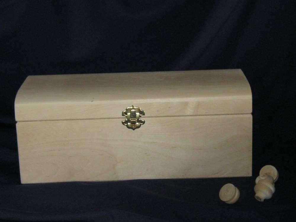 Шкатулка-сундук круглый верх 300*150 мм (береза )
