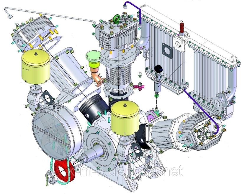 Запасные части к компрессору КТ-6, КТ-7, КТ-6Эл