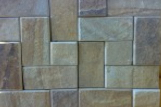 """Buy Elements of a paving of roads and sidewalks from sandstone - the Tile """"Sidewalk"""", the Stone blocks pilyano-chipped, the Stone blocks pilyano-rolled the Stone rubble of sandstone, the Tile """"fragmentary"""" (plitnyak)"""