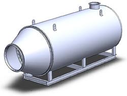 Воздушный теплообменник фото Кожухотрубный конденсатор ONDA L 61.303.2438 Биробиджан