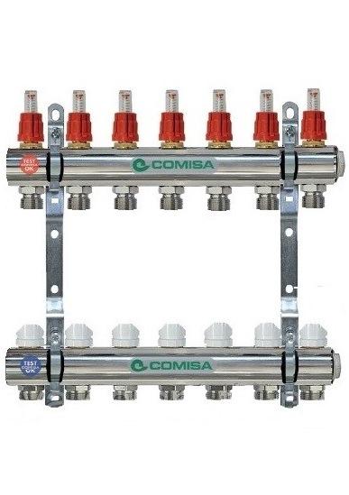 Коллектор для отопления с расходомером 2-ка Comisa