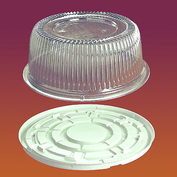 Упаковка круглая для тортов и рулетов Код 1208