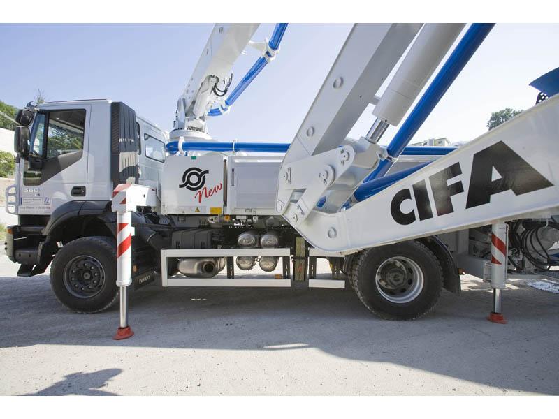 Автобетононасос CIFA модели K20 L, длина стрелы 20 метров