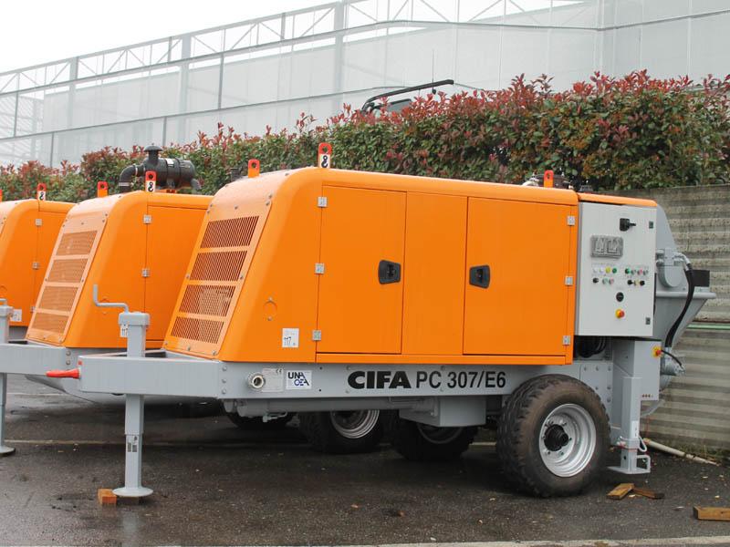 Стационарный бетононасос CIFA модели PC 307 D/E  с производительностью 30 м3/час