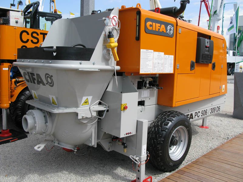 Стационарный бетононасос CIFA модели PC 506/309 D/E  с производительностью 50 м3/час