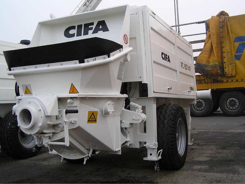 Стационарный бетононасос CIFA модели PC 607/411 D/E  с производительностью 65 м3/час