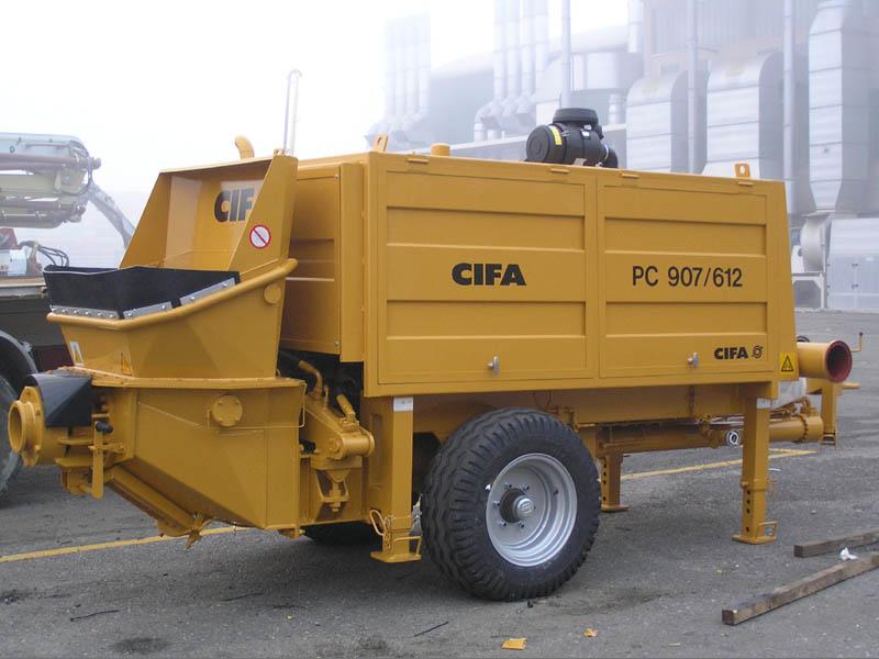 Стационарный бетононасос CIFA модели PC 907/612 D/E  с производительностью 87 м3/час