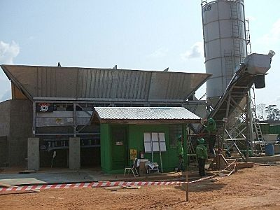 Concrete plant CIFA of the CIFADRY 50 model with a productivity of 50 m3/hour