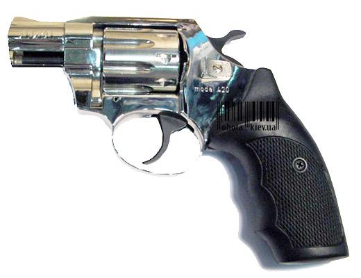 Револьверы для стрельбы резиновыми пулями, ALFA 420 (никель, пластик)