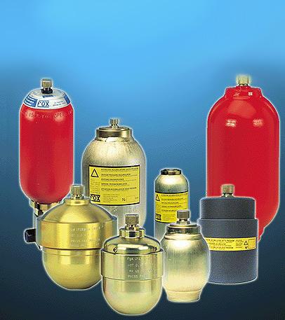 Купить Аккумуляторы гидравлические (гидроаккумуляторы) баллонные, поршневые, мембранные от различных производителей Италии и Германии. Hydac, Orsta, Fox.