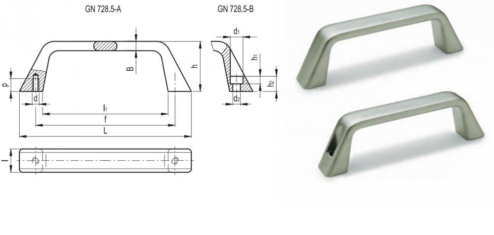 Ручка П-образная GN 728.5 INOX