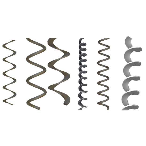 Купить Спирали транспортных шнеков, правая и левая, углеродистая и нержавеющая сталь, наваренные на трубу