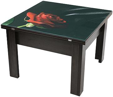 Стол трансформер 2 в 1 с декоративной столешницой тм Матролюкс