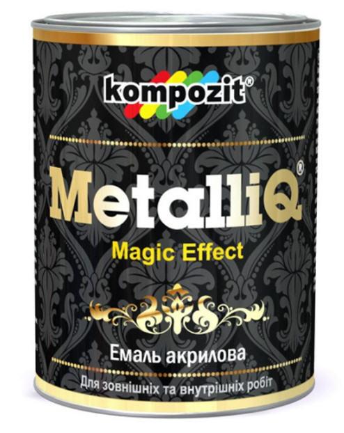 """Эмаль акриловая METALLIQ® - Водоразбавляемая атмосферостойкая декоративная латексная эмаль универсального применения с эффектом """"металлик"""