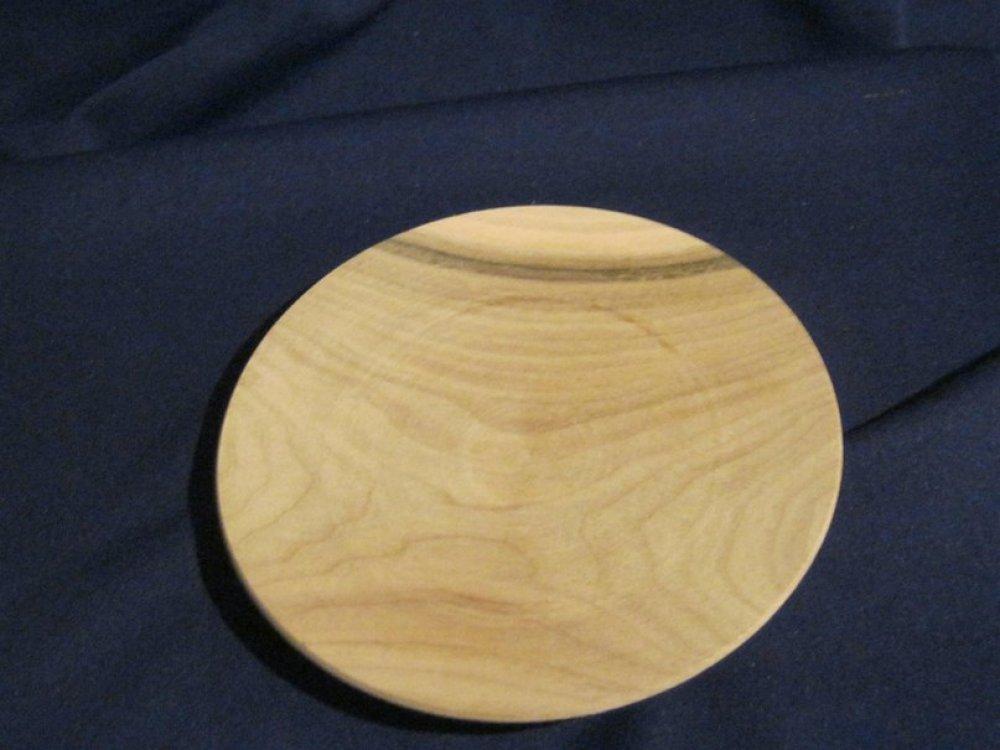 Деревянная тарелка 150 мм, ольха или черешня