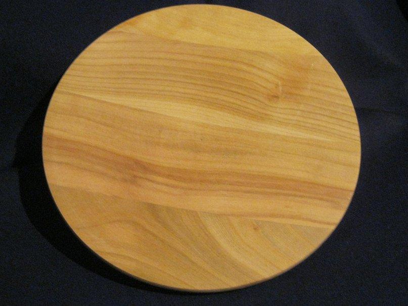 Деревянная тарелка 380 мм, ольха