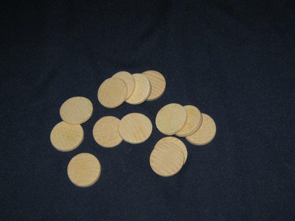 Деревянные пластинки 26 мм , бук ( упаковка 100 шт )