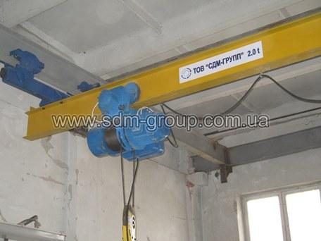 Кран мостовой подвесной однобалочный, кран-балки