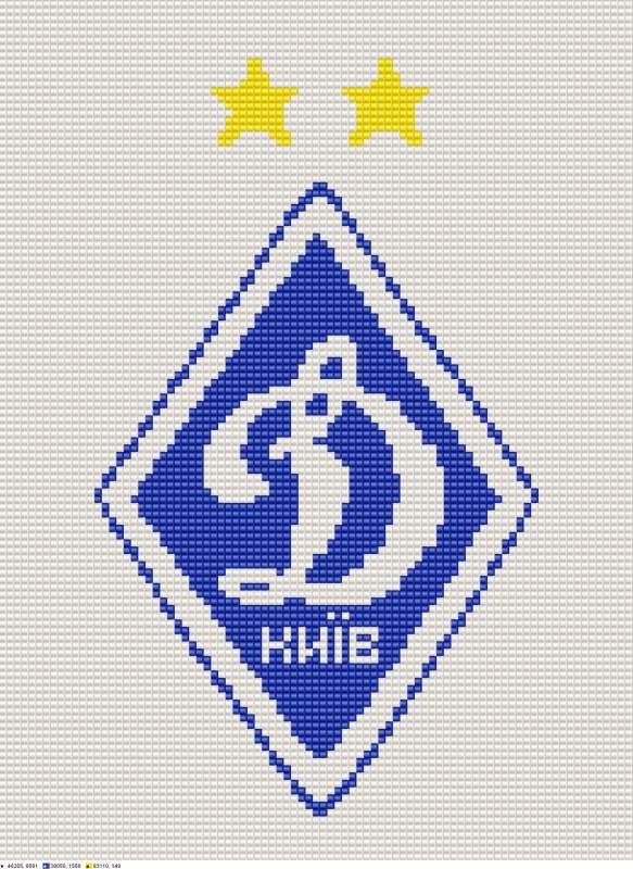 Схема для вышивки бисером лого
