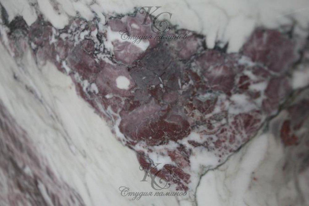 Мрамор бело-серый Breccia Lilla (Брехчия Лила)
