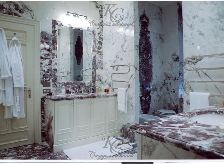 Ванные комнаты с мрамора и гранита