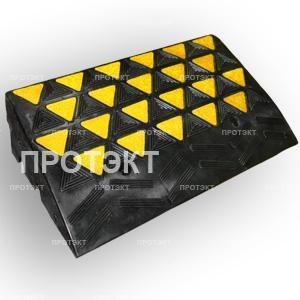 Купить Съезд с бордюра резиновый (основной элемент, 4 отверстия под болты)