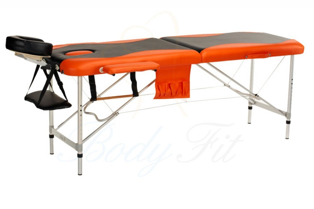 Алюминиевый 2-х сегментный стол для массаж 2 цвета