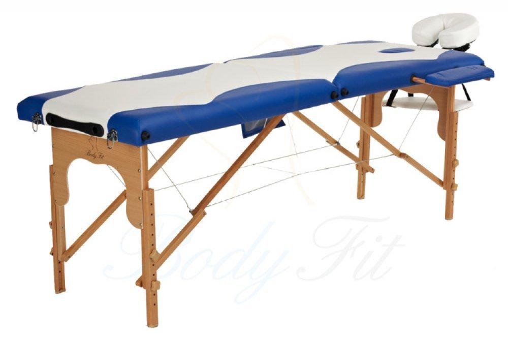 Деревянный 2-х сегментный стол для массажа 2 цвета