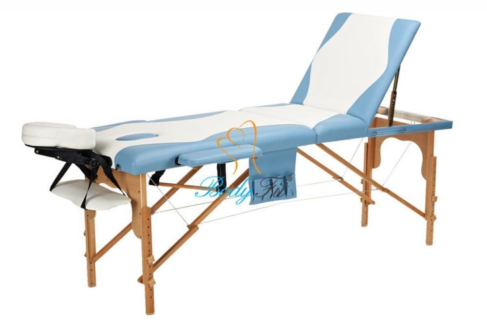 Деревянный 3-х сегментный стол для массажа 2 цвета