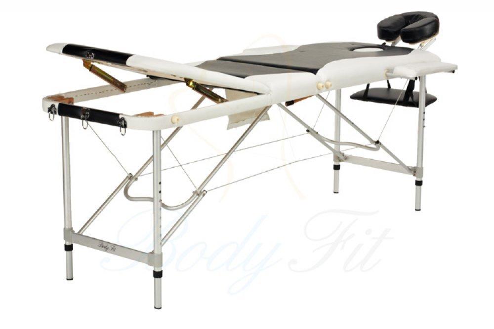 Алюминиевый 3-х сегментный стол для массажа 2 цвета