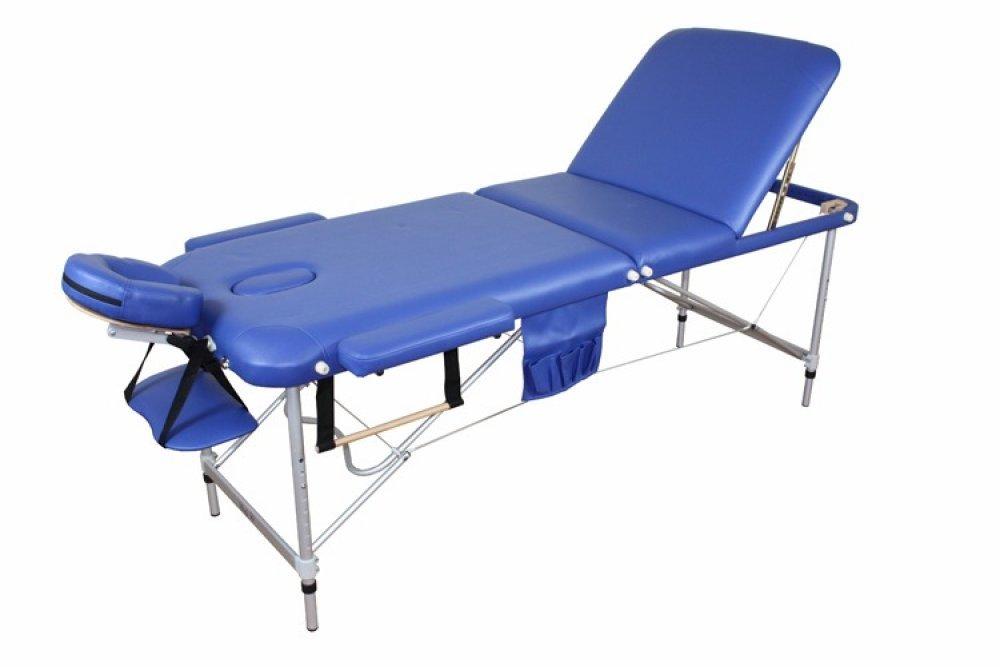 Алюминиевый 3-х сегментный стол для массажа
