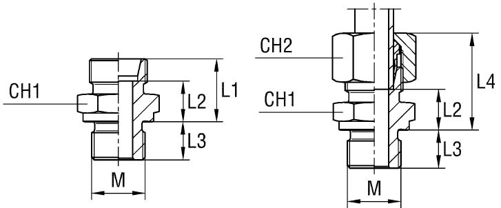Купить Соединение резьбовое XGE-М серия L 315 бар Ø трубы 12 14х1,5