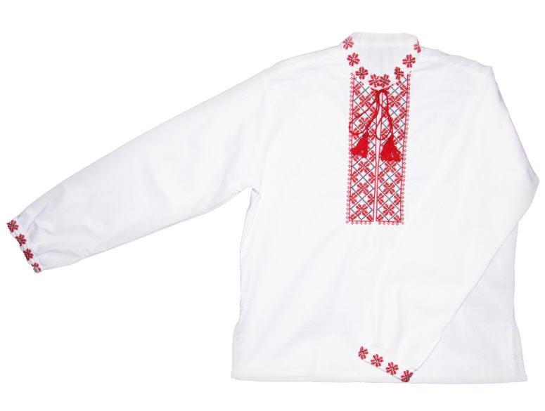 Сорочка-вышиванка мужская лен белый 474dd7a06c27d