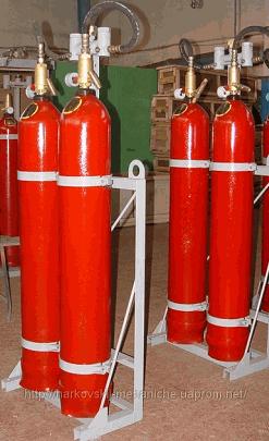Купить Модули - Установка газового пожаротушения МГП-2-60 для тушения пожаров классов А (твердые материалы), В (жидкость), С (газы), Е (электрооборудование) объемным и локальным способом.