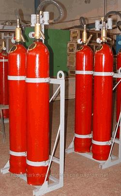 Купить Модули газового пожаротушения МГП-2-60, двухбалонный 120 (2*60) л, инертизационный, с устройством контроля массы и без него, дает возможность включать дополнительную емкость, с пневматическим пуском в автоматическом режиме, с использованием обратного клап