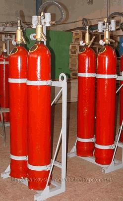 Купить Модули - Установка газового пожаротушения МГП-2-80 для тушения пожаров классов А (твердые материалы), В (жидкость), С (газы), Е (электрооборудование) объемным и локальным способом.