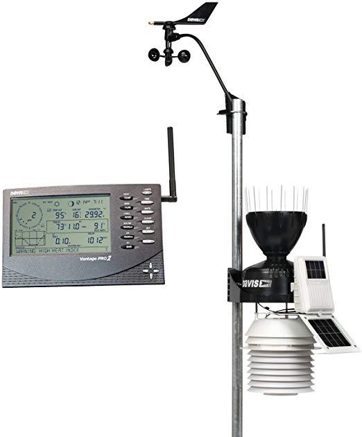 Метеостанция Vantage Pro2 (Davis Instruments), беспроводная с вентилятором для 24-часового обдува датчиков Davis 6153