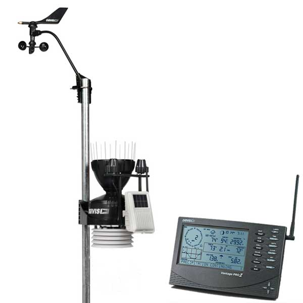 Метеостанция Vantage Pro2 Plus (Davis Instruments), беспроводная, включая датчики солнечной радиации и солнечной активности (ультрафиолета) Davis 6162