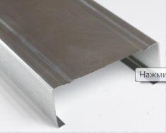 Купить Гипсокартон и комплектующие, Металлические профиля и комплектующие, Профиля и комплектующие CW-100 3м