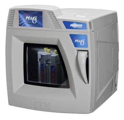 MARS systemu mikrofalowego 6-laboratorium dla degradacji kwasu (mineralizacji) próbek