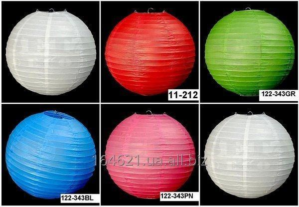 Купить Бумажный подвесной китайский фонарик d-30 см.