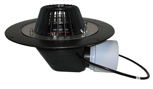 HL64.1 Кровельная воронка с электрообогревом, горизонтальный выпуск DN75/110.
