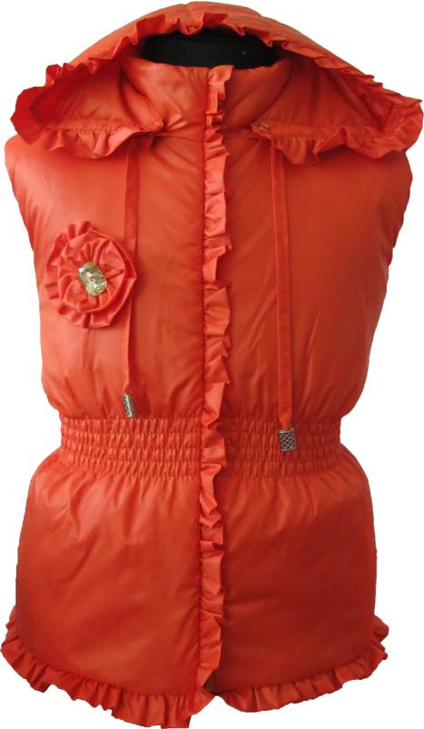 Красивая жилетка для девочки из плащевки на синтепоне. Модель 419