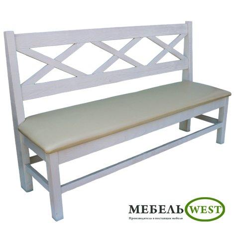 Мебель под старину, Скамейка ХИТ в белом цвете