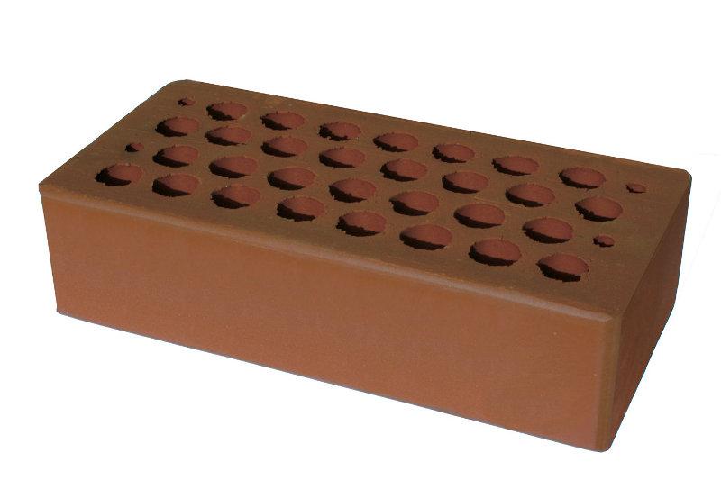 Кирпич керамический лицевой  пустотелый М-100, М-200